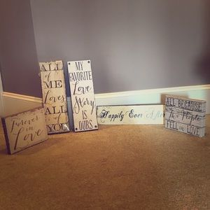 Lot of 5 Wedding signs❤️❤️